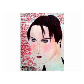 Angry Girl Postcard
