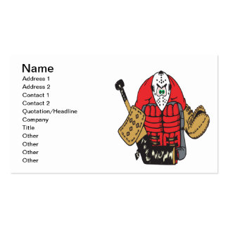 Angry Goalie Double-Sided Standard Business Cards (Pack Of 100)