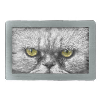 Angry Golden Cat Eyes Rectangular Belt Buckle