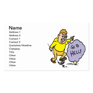 Angry Golfer Double-Sided Standard Business Cards (Pack Of 100)