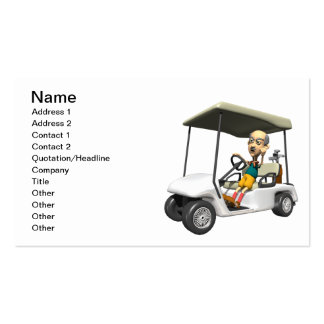 Angry Golfer Business Card