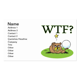 Angry Gopher Double-Sided Standard Business Cards (Pack Of 100)