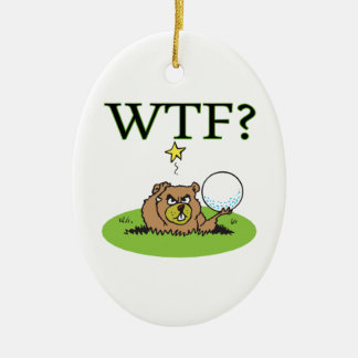 Angry Gopher Ceramic Ornament