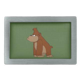 Angry gorilla rectangular belt buckle