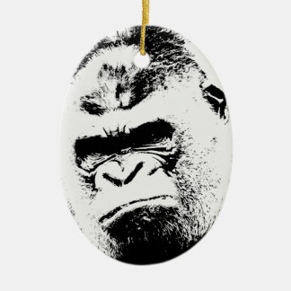 Angry Gorilla Ceramic Ornament