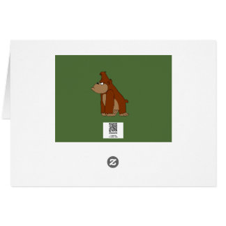 Angry gorilla design stationery card