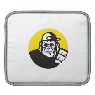 Angry Gorilla Head Baseball Cap Circle Retro Sleeves For iPads