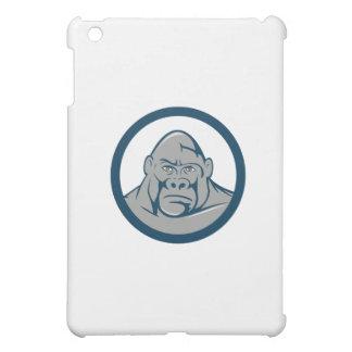 Angry Gorilla Head Circle Cartoon iPad Mini Covers