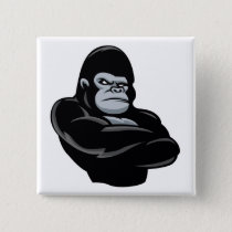 angry  gorilla pinback button