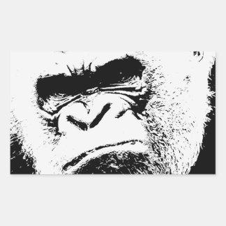 Angry Gorilla Rectangular Sticker