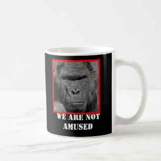 Angry Gorilla We Are Not Amused Classic White Coffee Mug