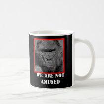 Angry Gorilla We Are Not Amused Coffee Mug