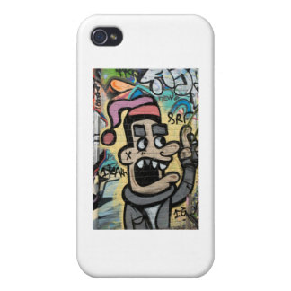 Angry Graffiti Man iPhone 4/4S Cases