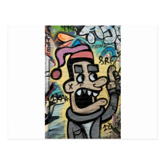 Angry Graffiti Man Postcard