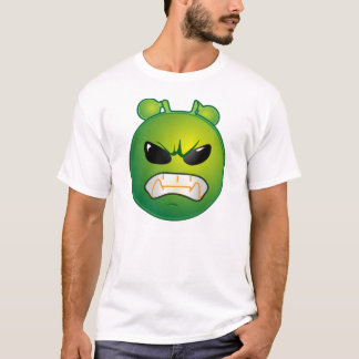Angry Green Emoticon T-Shirt