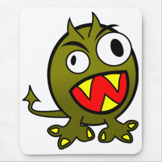 Angry Green Monster Mouse Pad