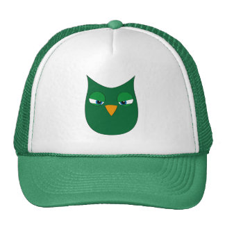 Angry Green Owl Hat