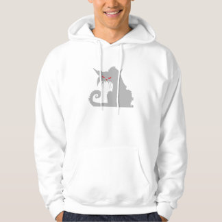 Angry Grey Cat Pullover