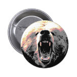 Angry Grizzly Bear Pins