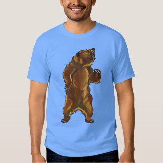 angry grizzly bear tee shirt