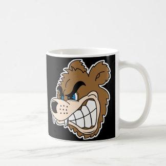 angry growling bear face coffee mug