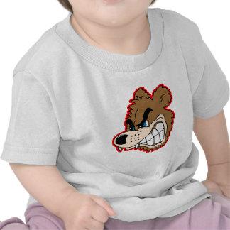 angry growling bear face tee shirts