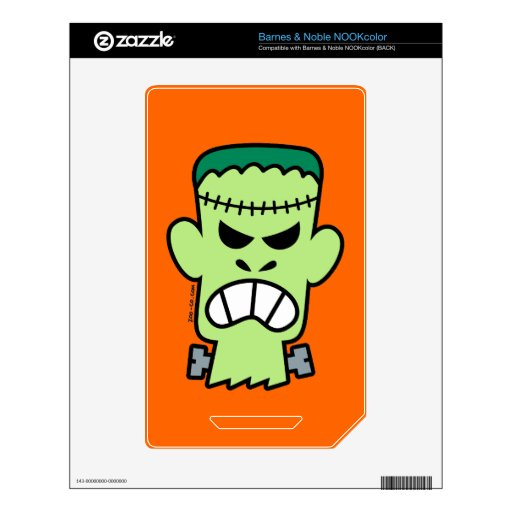 Angry Halloween Frankenstein Decal For The NOOK Color