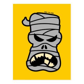 Angry Halloween Mummy Postcard