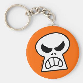 Angry Halloween Skull Keychain