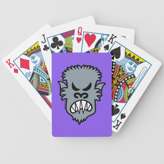 Angry Halloween Werewolf Bicycle Playing Cards