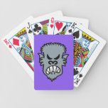 Angry Halloween Werewolf Poker Cards