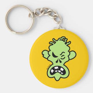Angry Halloween Zombie Keychain