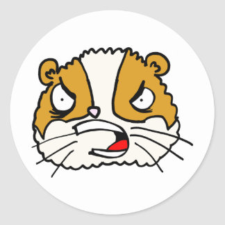 Angry Hamster Classic Round Sticker