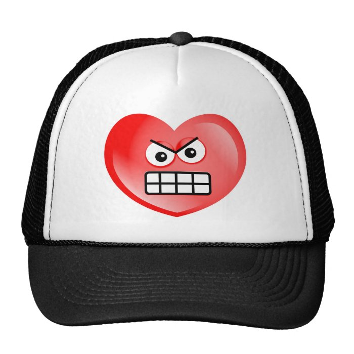 Angry Heart Trucker Hat