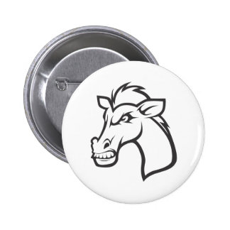 Angry Horse Pinback Button