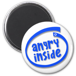 Angry Inside Magnet