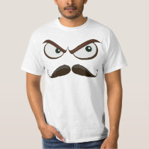 Angry Jalapeno Mustache T-Shirt