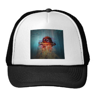 Angry jelly fish trucker hat