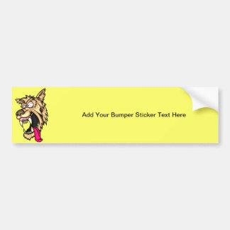 Angry Junkyard Dog Bumper Sticker