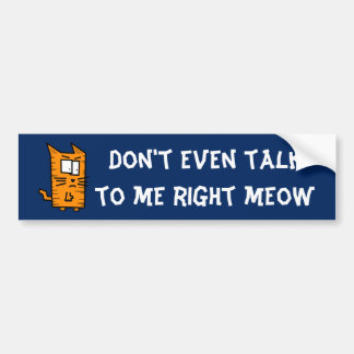Angry Kitty bumper sticker