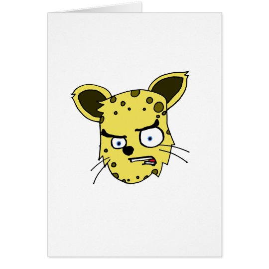 Angry Leopard Card