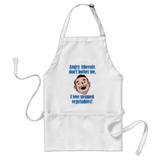 Angry liberals vs. steamed vegetables adult apron