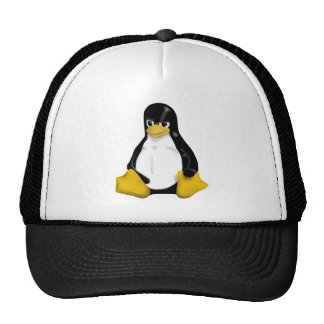 ANGRY LINUX TUX PENGUIN TRUCKER HAT
