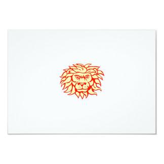 Angry Lion Big Cat Head Retro Card