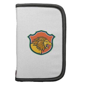 Angry Lion Head Roar Shield Cartoon Planner