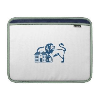 Angry Lion Paw on House Isolated Retro Sleeve For MacBook Air
