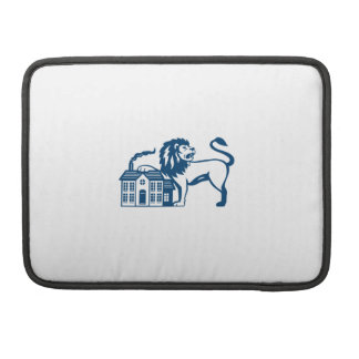 Angry Lion Paw on House Isolated Retro Sleeve For MacBook Pro