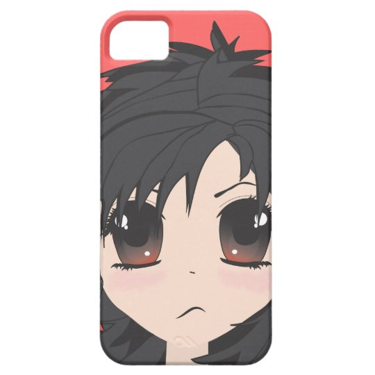 Angry Little Chibi Girl with Black Hair iPhone SE/5/5s Case