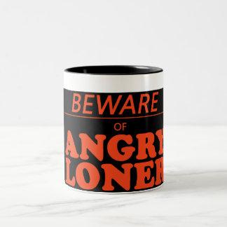 angry loner Two-Tone coffee mug