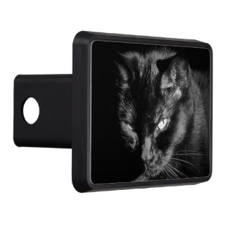 Angry Looking Black Cat Tow Hitch Cover